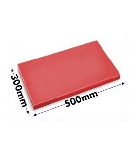 Skjærebrett HACCP, Rød, 50 x 30 x 2 cm