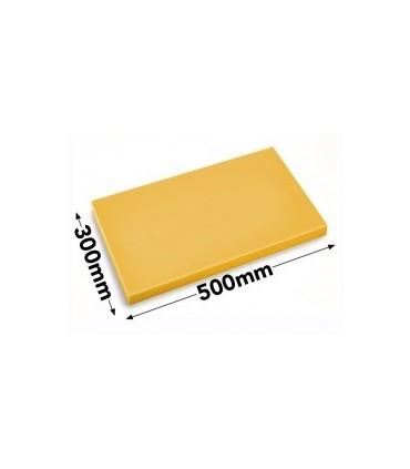 Skjærebrett HACCP, Gul, 50 x 30 x 2 cm