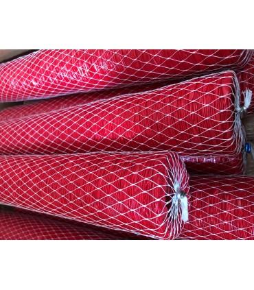 Fibertarm Opprynket  D:45mm 25m, Rød