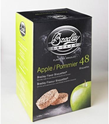 Bradley Røykebriketter av Eple 48-pack