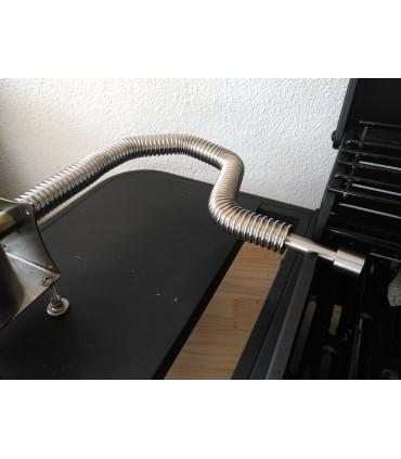 Grilladapter for fleksible rør i rustfritt stål Giga-Smo 4 liter