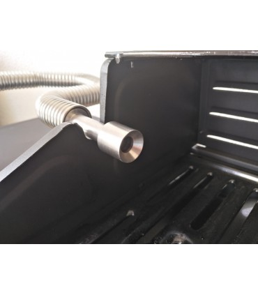 Grilladapter for fleksible rør i rustfritt stål Grill-Smo 0,65 liter