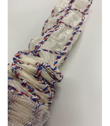 Fibertarm 50 Opprynket med rødt, hvit og blått nett 12,5m