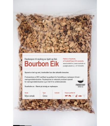 FUMY Røykespon, Røykflis av Bourbon Eik, 3Liter. Grov Størrelse.