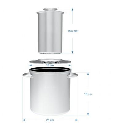 Påleggsform 1,5kg med kjele og lokk og to termometer