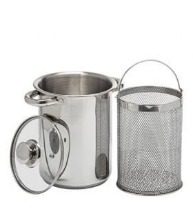 Multifunksjonell Kjele med kurv, 4 liter, stål