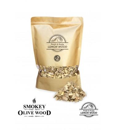 Røykeflis av Sitrontre Nº2 - Smokey Olive Wood