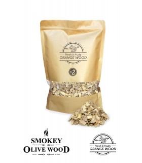 Røykeflis av Appelsintre Nº2 - Smokey Olive Wood