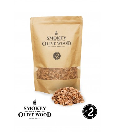 Røykeflis av Oliventre Nº2 - Smokey Olive Wood