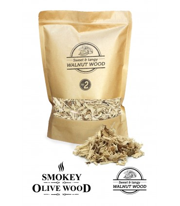 Røykeflis av Valnøtttre Nº2 - Smokey Olive Wood