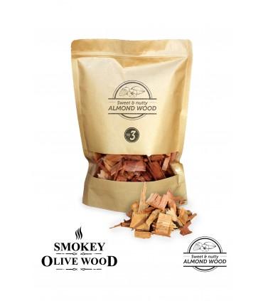 Røykeflis av Mandeltre Nº3 - Smokey Olive Wood