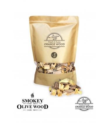 Røykeflis av Appelsintre Nº3 - Smokey Olive Wood
