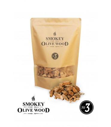 Røykeflis av Oliventre Nº3 - Smokey Olive Wood