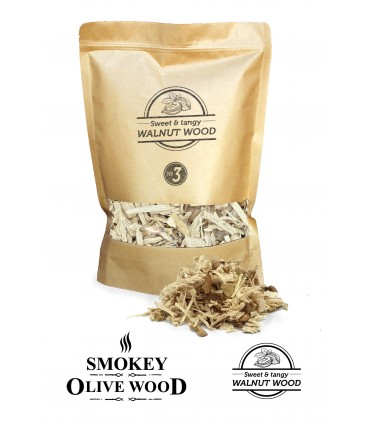 Røykeflis av Valnøtttre Nº3 - Smokey Olive Wood