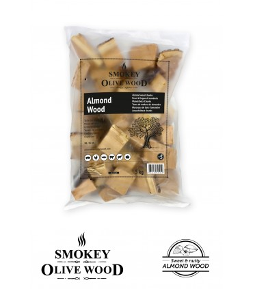 Wood Chunks Mandeltre Nº5 1,5kg - Smokey Olive Wood
