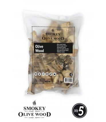 Wood chunks Oliventre Nº5 1,5kg - Smokey Olive Wood
