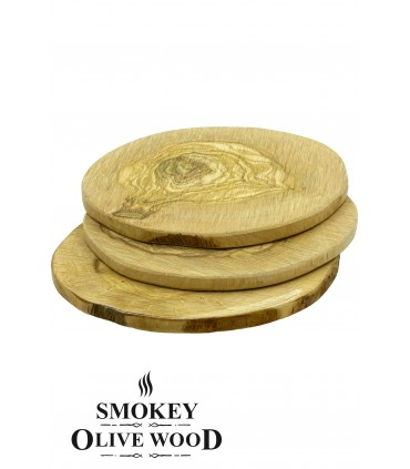 3 stk Grillplanker Oliventre Rund  - Smokey Olive Wood