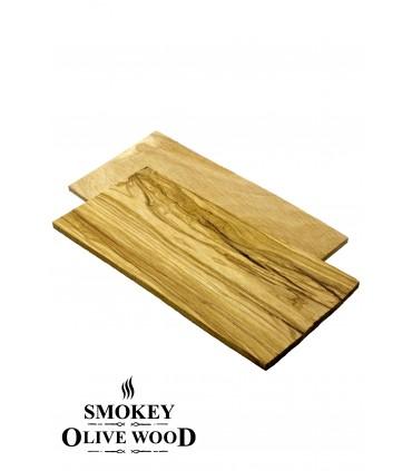 2 stk Grillplanker Oliventre  - Smokey Olive Wood