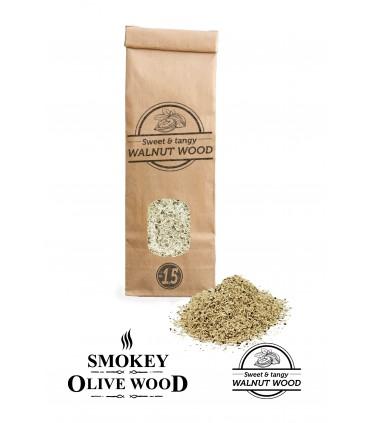 Røykemel av Valnøtttre Nº1.5 for Røykpistol  - Smokey Olive Wood