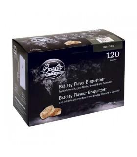 Bradley Røykebriketter av Eik 120-pack