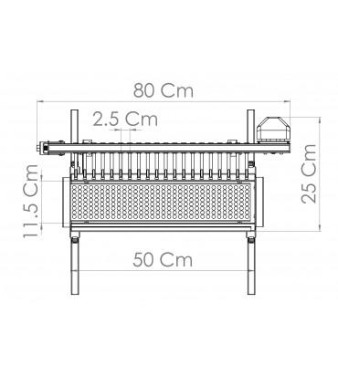 Grill Tecnoroast 20 Grillspyd Single 220v