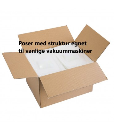 Trollvac Vakuumposer m/struktur  Eske 20x20(1000)