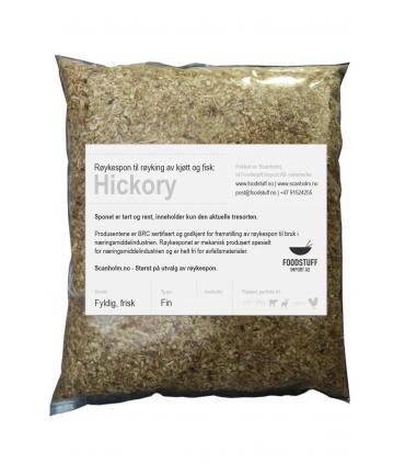 FUMY Røykespon, Røykflis av Hickory 60Liter. Fin Størrelse.